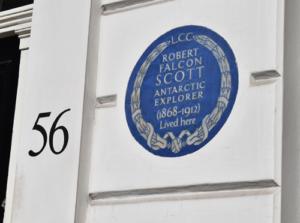 Robert Scott plaque