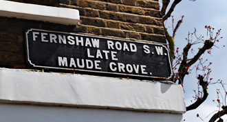 Old Fashioned London Street sign