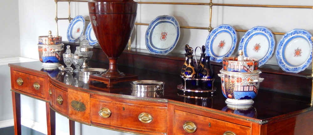 Bristol slave owner's home - detail of the Georgian House Museum sideboard.