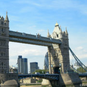 Glass walkways atop Tower Bridge London