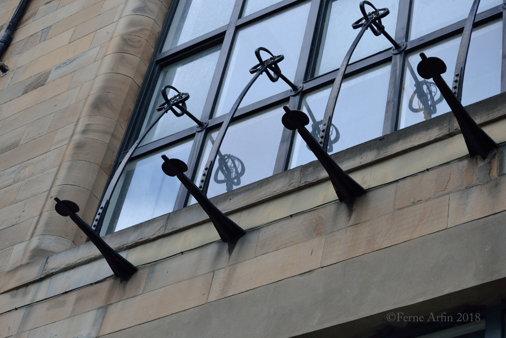 decorative wrought iron window details