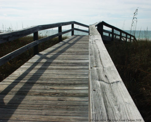 Plank walk over the dunes