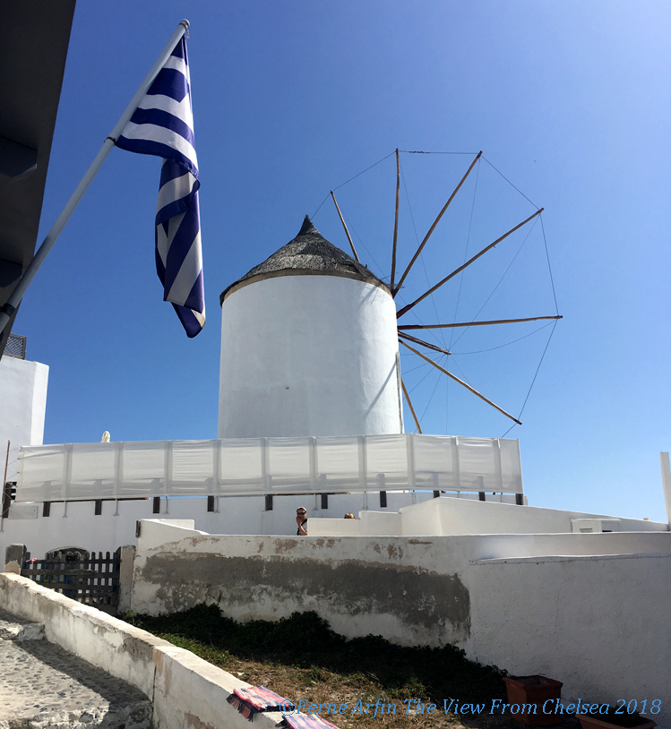 Cycladic windmill on Santorini