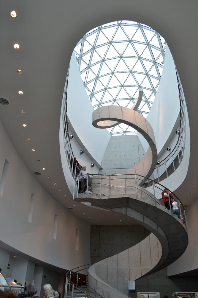 The egg and spiral motifs at the Dali Museum in Florida