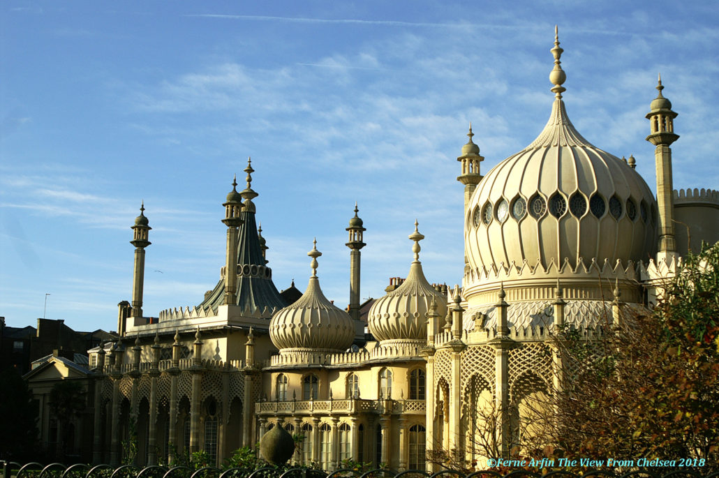 Domes and minarets of the Royal Pavilion, Brighton.