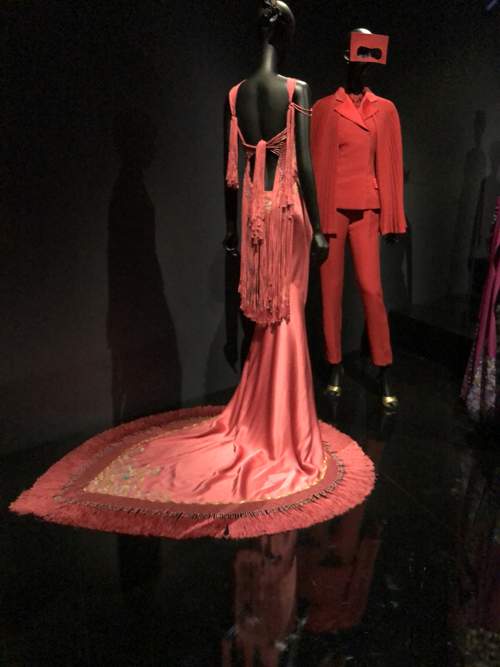 Red dress with train, Galliano for Dior