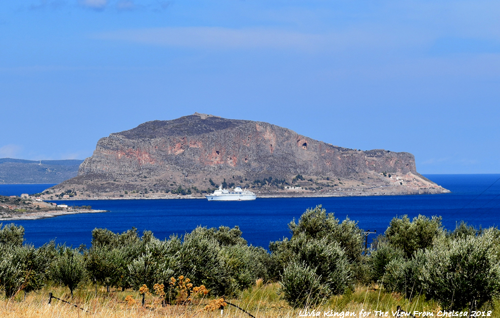 Distant view of Monemvasia