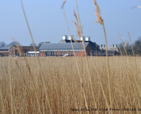 Brick malting barn, now a concert hall at Snape Maltings