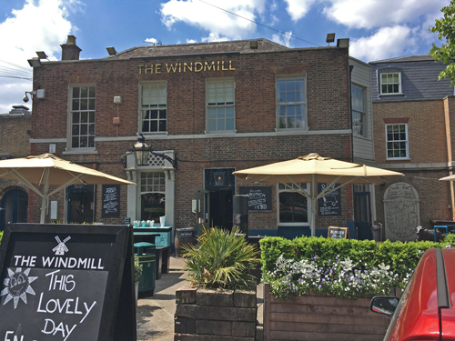Windmill pub in Clapham