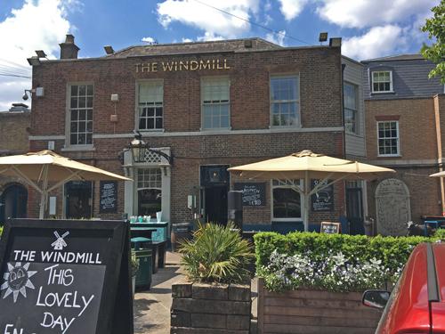 Windmill pub in Clapham