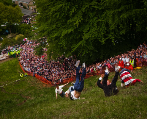 Cheese Rolling on Coopers Hill in Gloucestershire