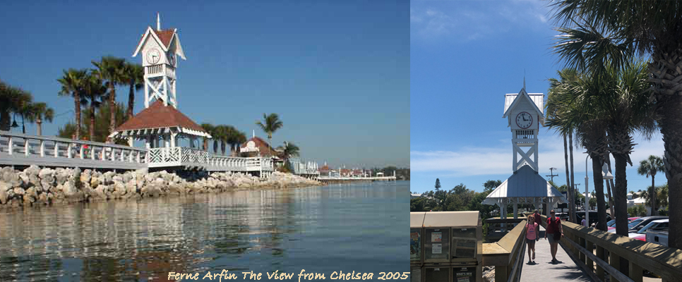 Bridge Street Pier then and now.