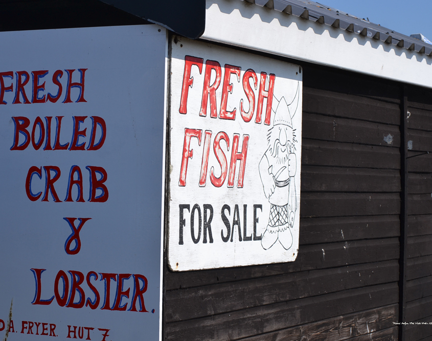 beach hut where crab and lobster is sold on Aldeburgh beach