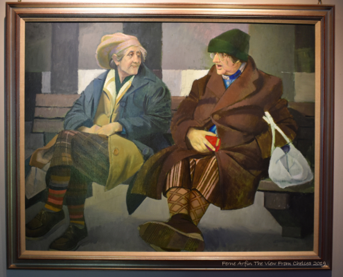 Painting of two old women in Dundee