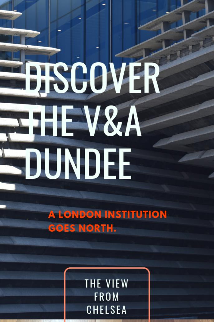 Pinterest poster for V&A Dundee