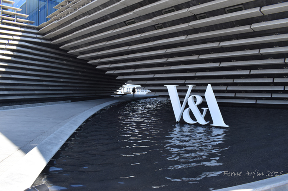 Detail of the exterior of the new V&A Dundee