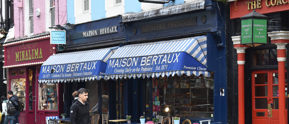 exterior of Maison Bertaux in Soho