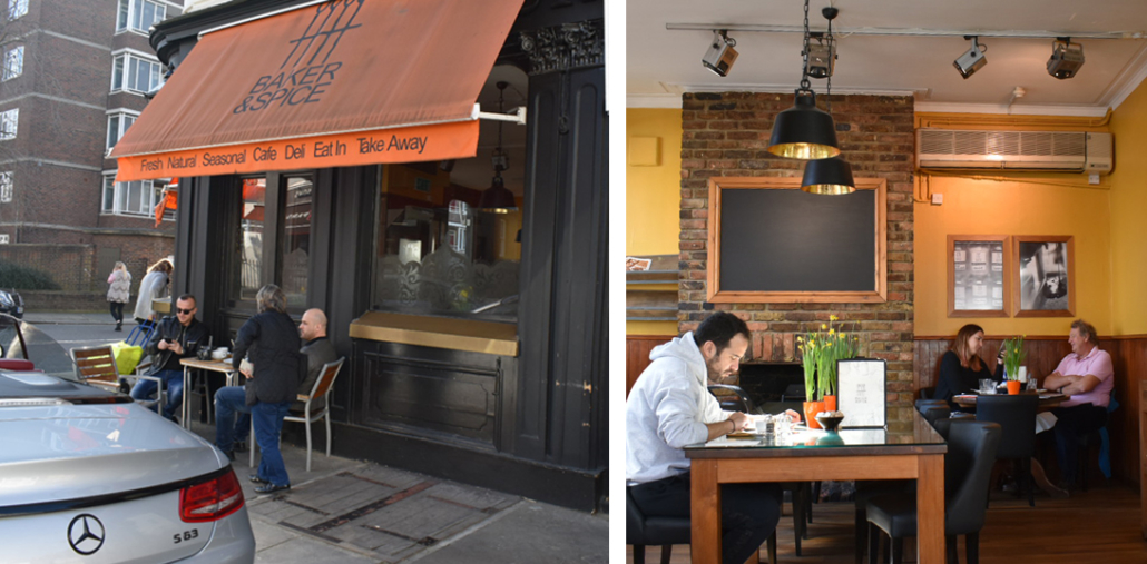 Street View and Interior of Baker & Spice