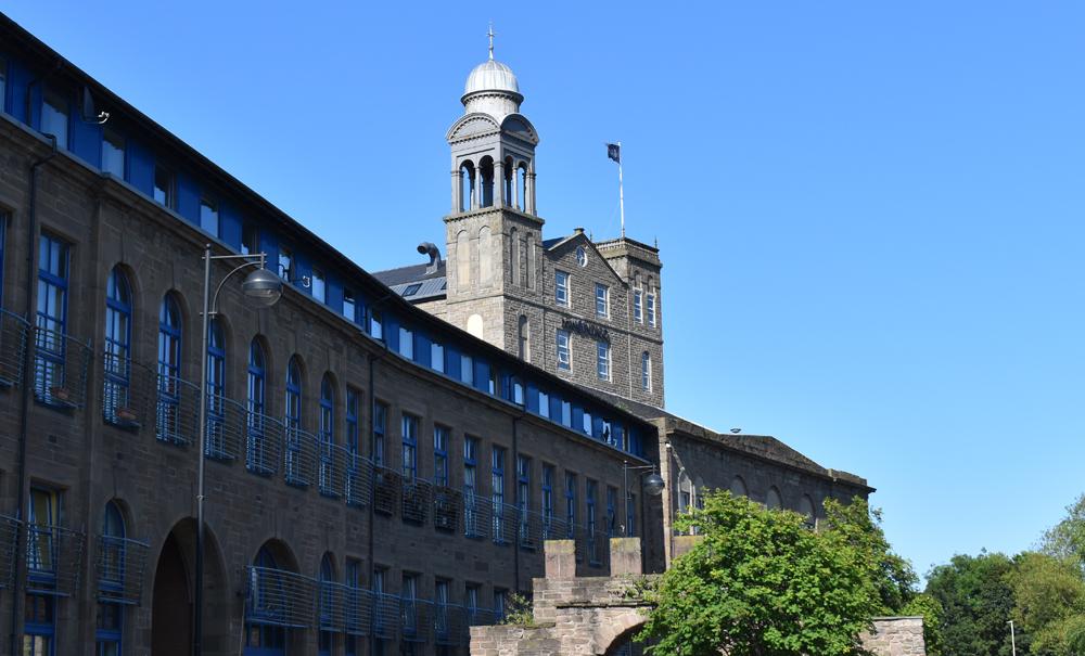 Italianate bell tower of Hotel Indigo Dundee