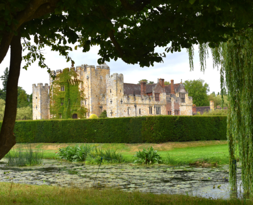 Picture of Hever Castle across the moat.