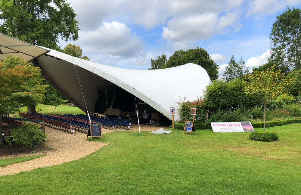 Open air theatre under a canopy