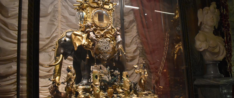 jewel encrusted 18th century mechanical elephant