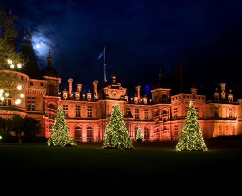 Waddesdon lit for Christmas, #christmas lights #waddesdon manor, Rothschilds, buckinghamshire, holiday display