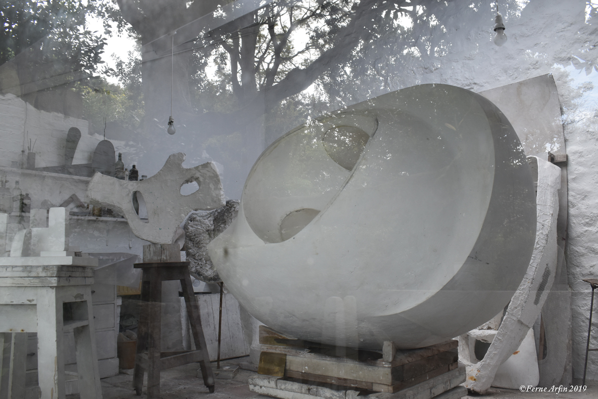 In the plaster studio #barbarahepworthmuseum #cornwall, #england #englishgarden#englishartist #st-ives