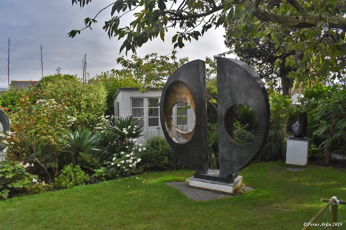 Iconic Barbara Hepworth bronze in her sculpture garden, #BarbaraHepworth, #StIves, #cornwall, #england#englishartist,