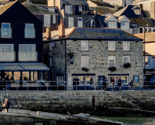 granite building in St Ives, #lifeboatinn, #stivesseafront #cornwall, #england, #english-seaside, #pub-hotel