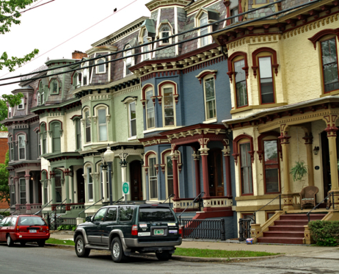 Victorian Row Houses on Saratoga Springs weekend escape