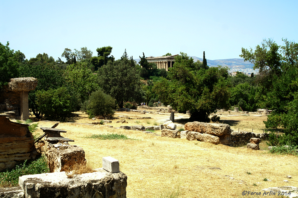 Athens, #ancient-agora-athens #greece #greeklandmarks #greek-temples #temple-of-hephaestus #open-space