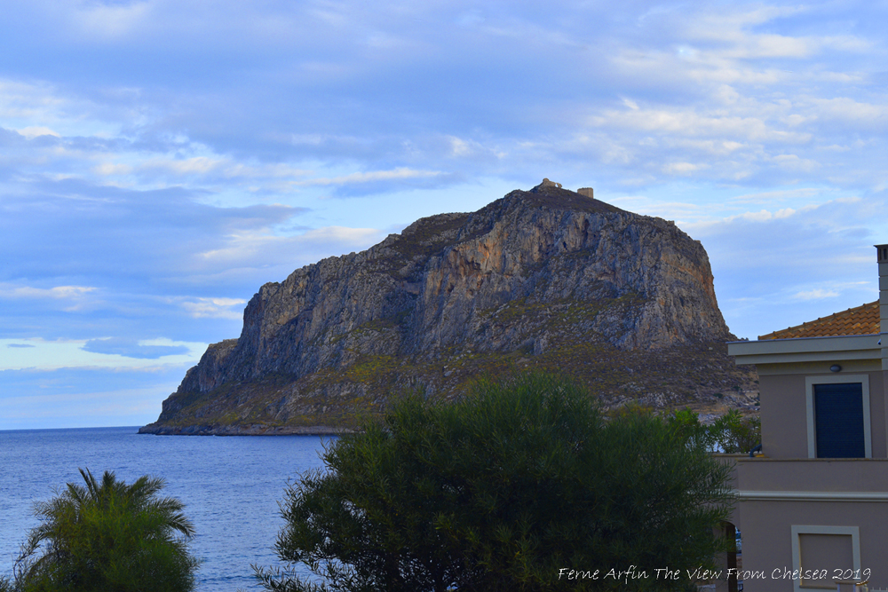 wide open space, Monemvasia sunset, first sight of monemvasia, peloponnese