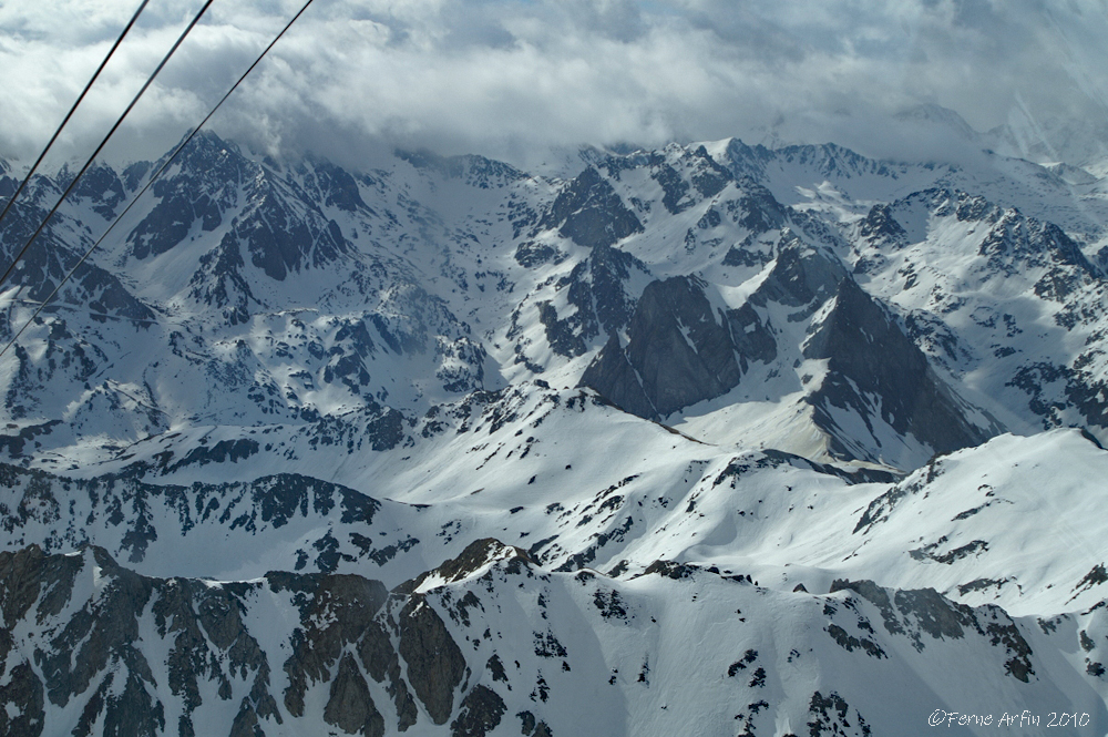 #Pyrenees #picdumidi #cablecar #mountains #france #catalonia #snow #snowcappedmountains