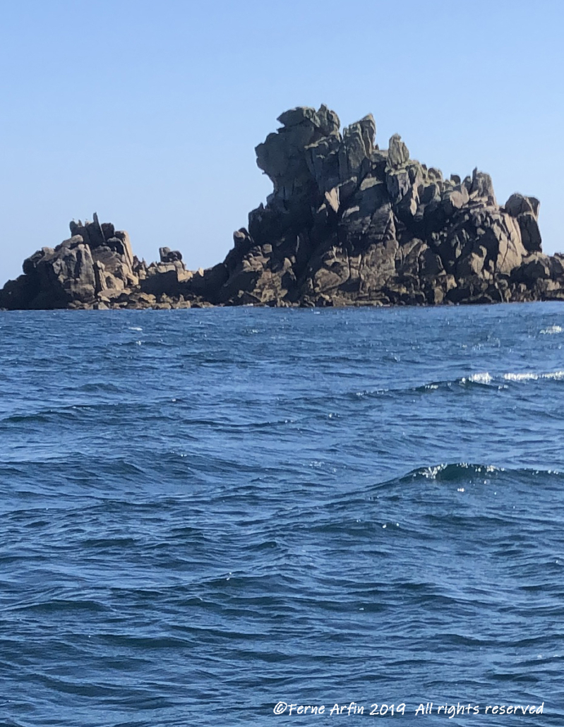 Granite formations off St Agnes, Scilly Isles, Engand, UK, dramatic rocks