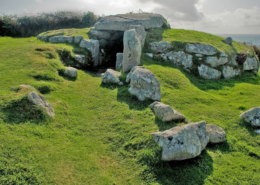 Bronze Age monument, Bant's Carn, Scilly, prehistoric entrance grave, England, UK, ruins,, English Heritage
