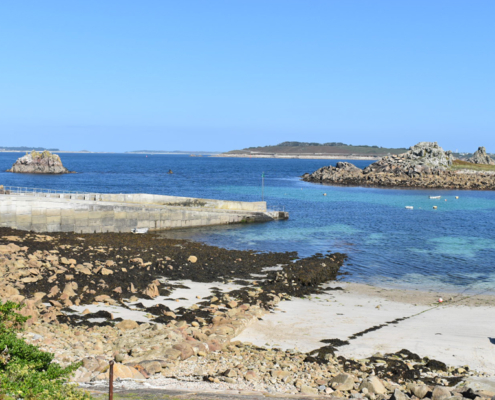 St Agnes harbour views, view of scillies, visit isles of scilly, England, UK, Atlantic island, Archipelago