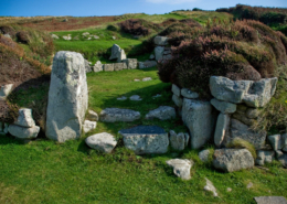 Prehistoric Bronze Age Village, Halangy Down, Isles of Scilly, English Heritage, St Mary's, England, UK