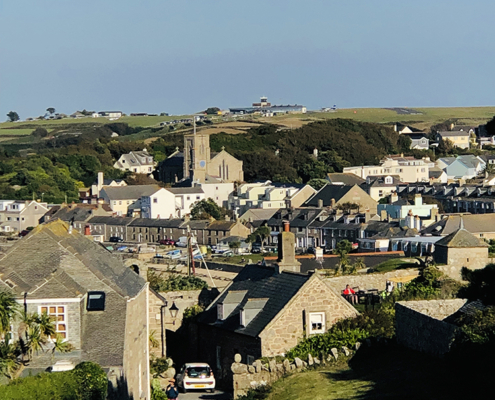 Overview of Hugh Town, the capital of St Mary's