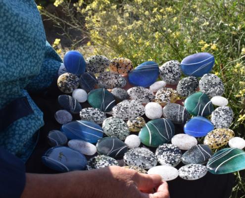 sea pebbles, glass pebbles, oriel hicks