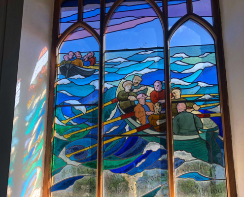 Stained glass by Oriel Hicks, Artists of Scilly