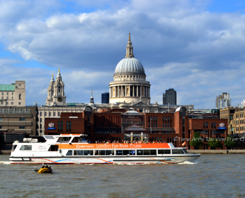 London after lockdown, London, England, Thames, St Pauls Cathedral, River Cruise