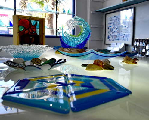 fused glass by Oriel Hicks Artists of Scilly
