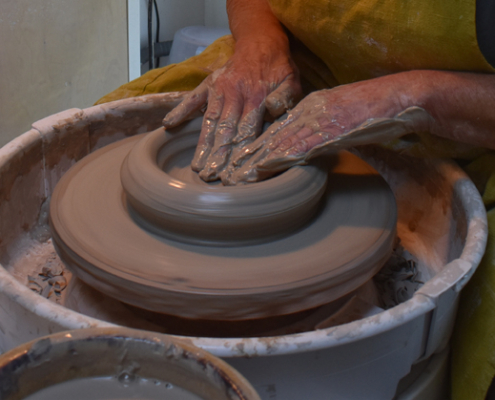 potters hands, Lou Simmonds, Artists of Scilly, Scilly Artists