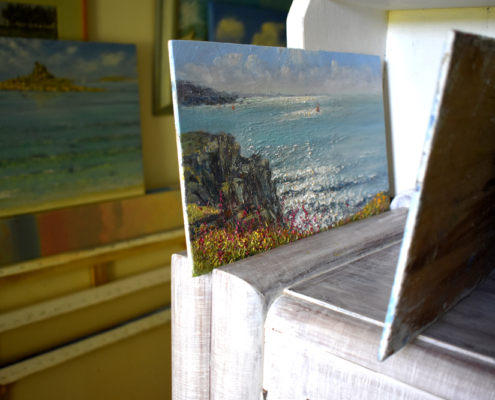 Peter Macdonald Smith, oil paintings on board, seascapes, St Mary's, Isles of Scilly, Artists of Scilly, Scilly artists