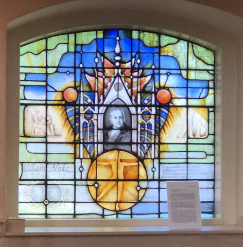 William Blake, Poet, Stained glass window, St Mary's Battersea