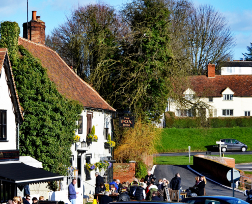 English pub in Essex village, UK, England, Finchingfield, prettiest villages in England, stay in a pub.