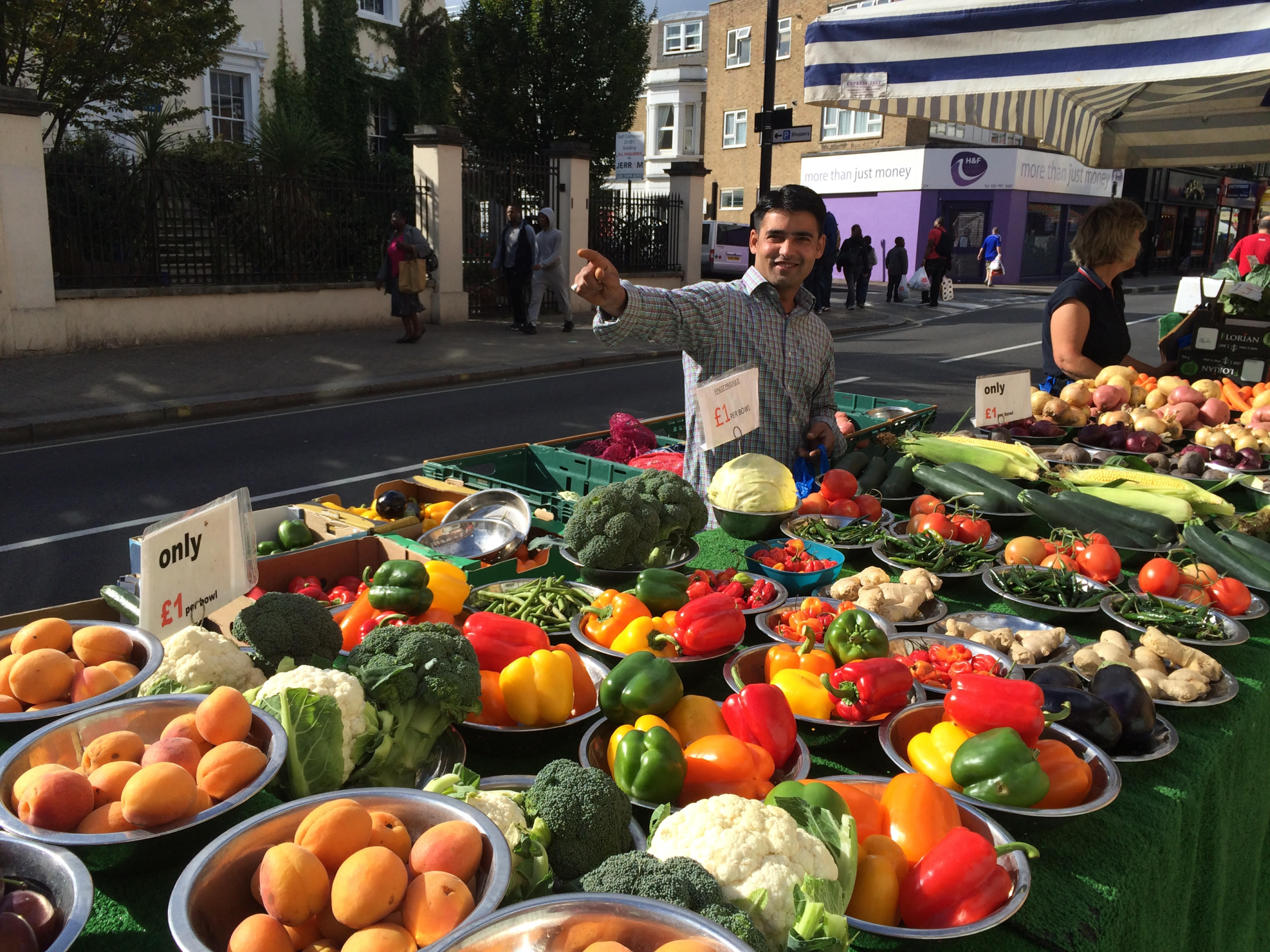 London, England, Britain, Fulham, Street vendor, London Market