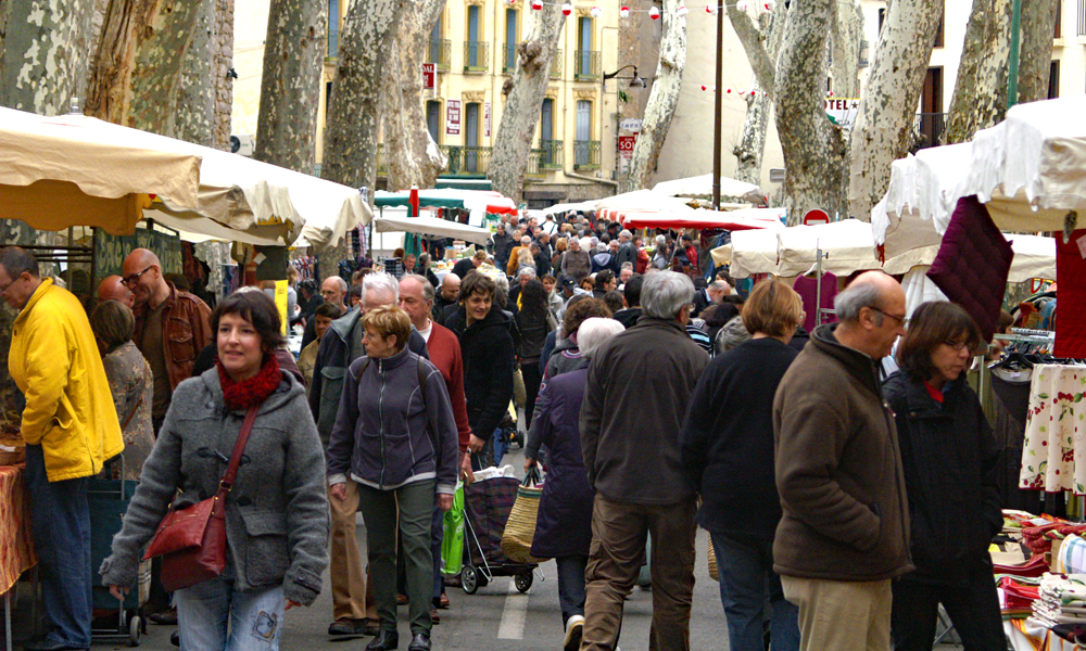 Ceret market, France, Pyrenees Orientales, French Catalonia