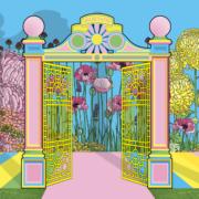 Press image sketch, baker and Borowski, Warwick Road pleasure gardens
